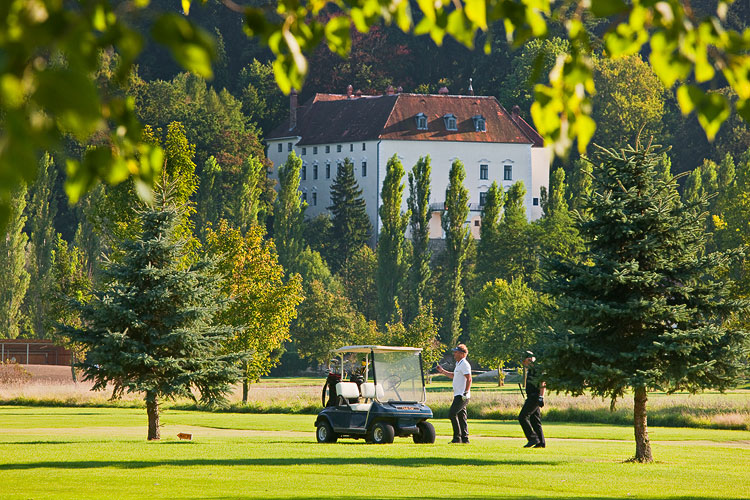 The Austrian Castle overlooks the golf course and is available to hire from The Big House Company
