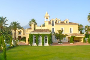 Marbella Villa Rear view