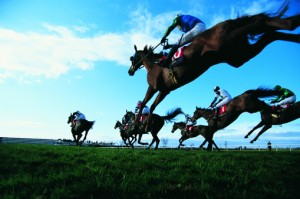 Horse racing is a thrilling day out during a weekend house party in the Cotswolds