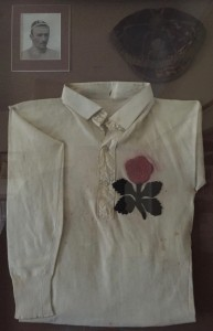 England rugby shirt & cap worn by Francis Fox in 1890