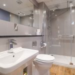 The Stables has a stylish, accessibility friendly shower room on the ground floor