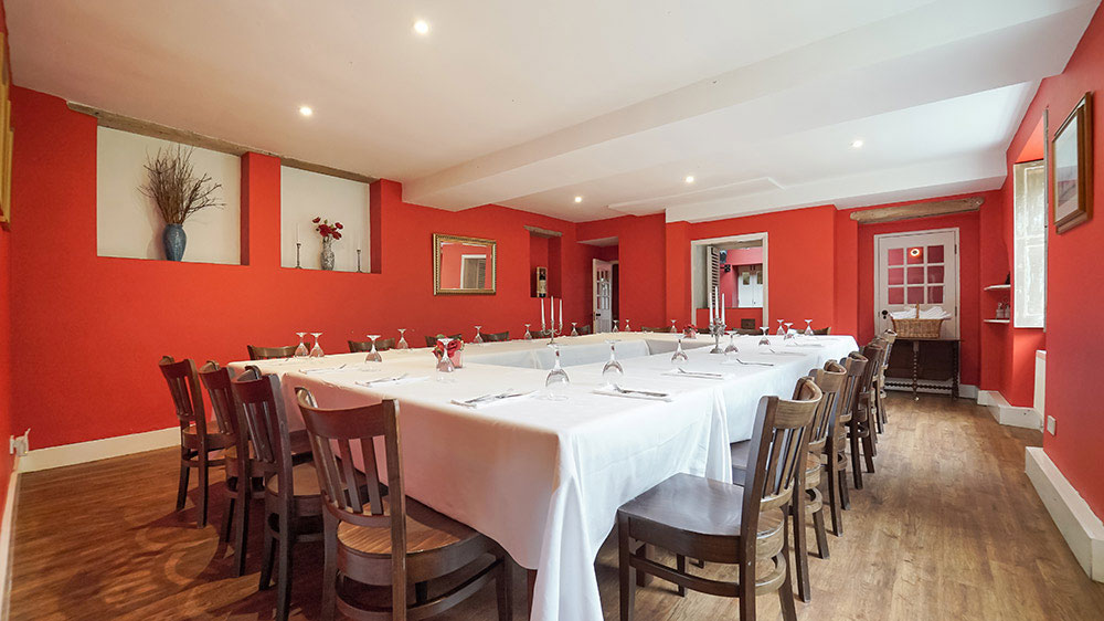 For a large group the dining room at our party house in Wellington is spacious enough to seat 31 guests.