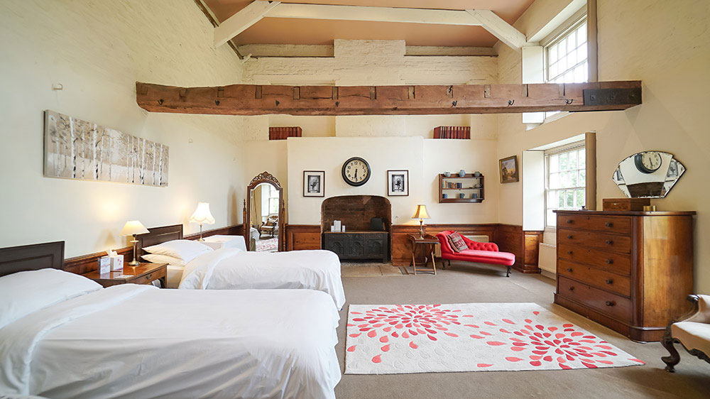 The Laundry bedroom at Tone Dale House is a wonderfully romantic bridal suite after a wedding weekend here.