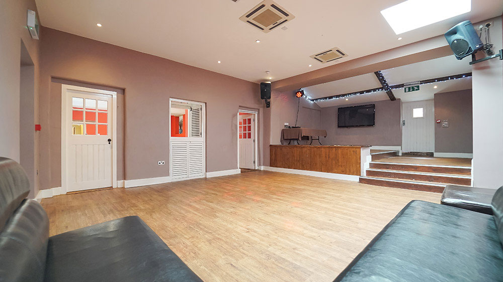 Tone Dale House has a party room for dancing, music and watching big matches on the wide screen tv