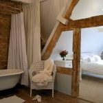 Roll top baths are a feature of the bathrooms at Cotswold Manor