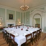 Berry House has a splendidly elegant dining room that comfortably seats a large party of up to 24 friends and family