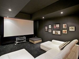 The indoor cinema room
