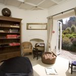 The Den is a small haven for children to play in, with doors to the large garden at Widcombe Grange in Somerset