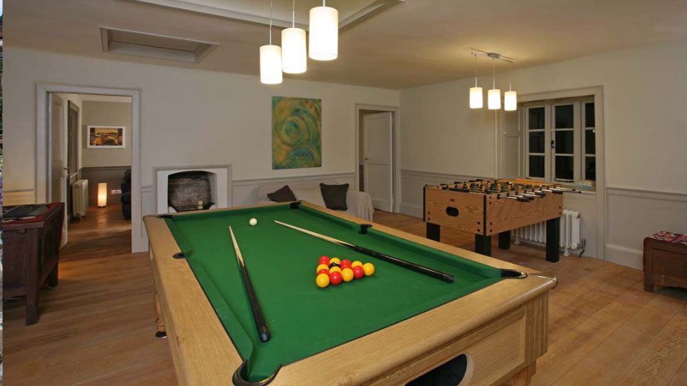 Games of pool and table football are part of the entertainment for groups at Berry House.