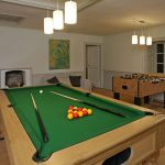The games room has a pool table and table football. There is also a games barn, for extra fun for adults and children alike