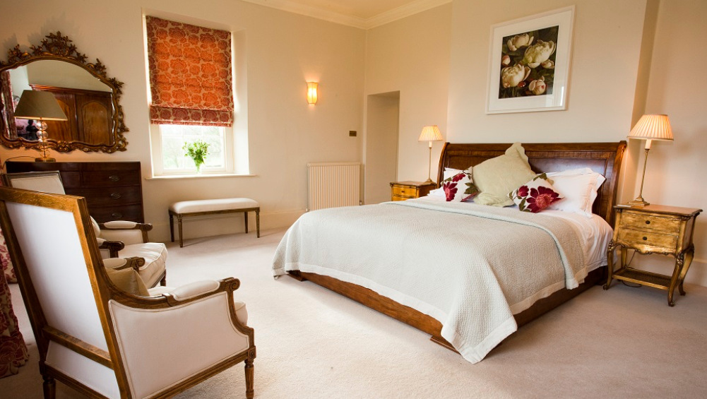 All the bedrooms at Somerset Manor are spacious and comfortable for a large house party in Somerset