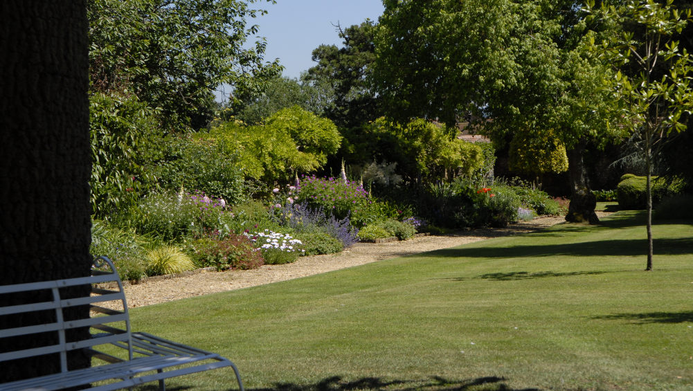 The well tended gardens are ideal for a break during a corporate retreat in Somerset.