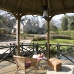 The licensed wedding gazebo overlooking the lake at Widcombe Grange, a beautiful location for a wedding in Somerset