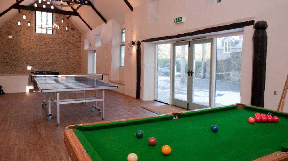 Widcombe Grange is a big party house in Somerset with a large games room for table tennis, pool & table football