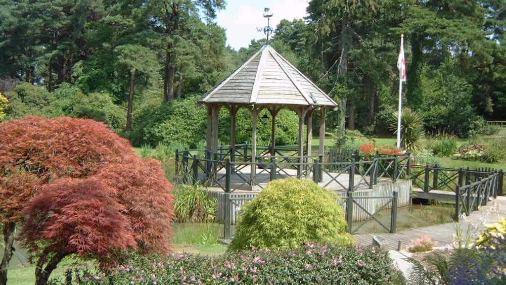 The lakeside gazebo is licensed for weddings at Widcombe Grange through The Big House Company