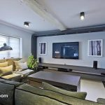 A great place for large groups of friends and family to relax and enjoy a movie together, on these big comfortable sofas