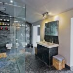 The shower rooms at Midlands Villa are spacious and have large rainfall shower heads