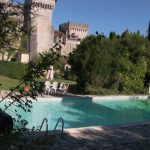 The French Castle has an outdoor heated swimming pool