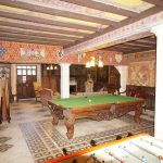 The Snooker and games room is popular with families staying at the French Castle.