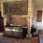 Large cooking facilities at the French Castle.