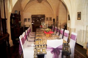 Dining area at the French Castle.