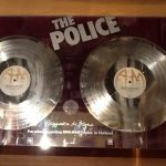 Record discs on display at the Castle.