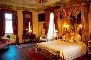 One of the magnificent bedrooms at the French Castle.