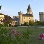 Distant view of the French Castle, available to hire through The Big House Company.