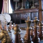 Chess set at the French Castle.