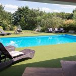 The outdoor pool at Midlands Villa is very popular with our large groups during the school summer holidays