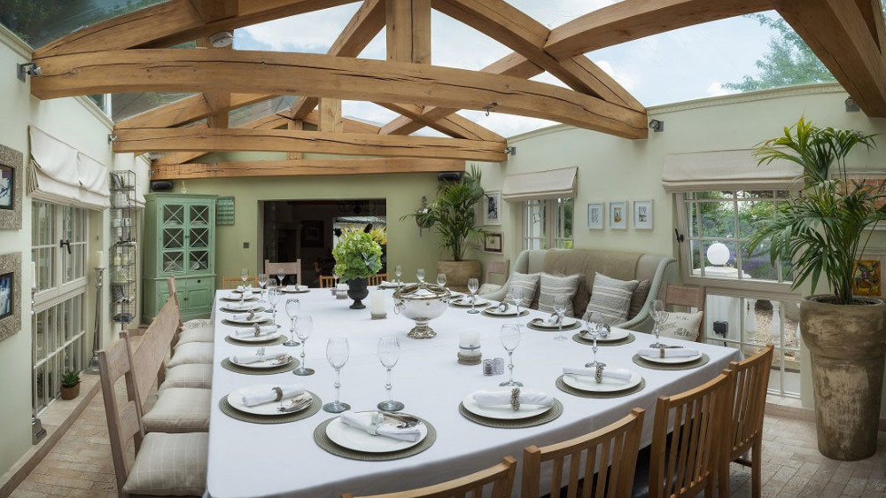 Our guests often enjoy special birthday celebrations in the spacious dining room at Midlands Villa