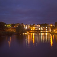 Exeter Quay at night