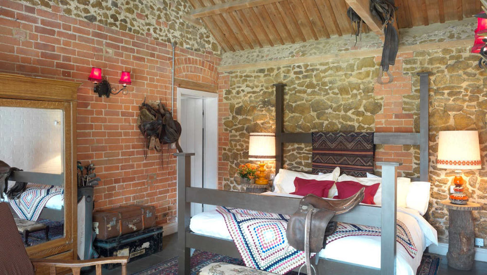 All the bedrooms at Cliff Barns have very comfortable and have a charming rustic style to them.