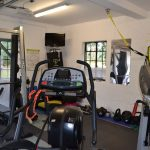 The gym equipment at Sussex Manor for groups to enjoy.