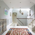 Attractive rugs and beautiful artwork adorn the interior of Dorset Lodge.