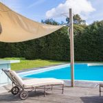 The outdoor pool at our country house in Sussex is open during the summer months