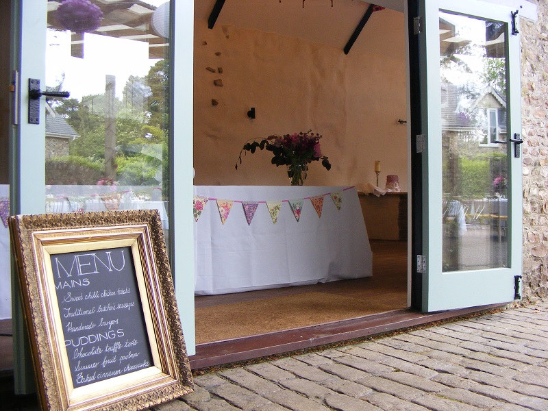 The coach house is licensed for wedding ceremonies and a charming space for smaller wedding meals and buffets too.