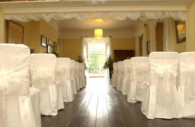 The Long Room at Tone Dale House in Somerset is licensed for civil wedding ceremonies