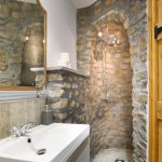 This stunning stone shower is in one of the ground floor bedrooms at Tatham House