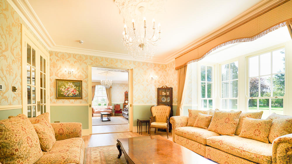 Tatham House has 2 large sitting rooms for a great house party in Somerset