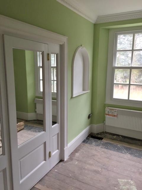 green roommirrored ensuite doors & green roommirrored ensuite doors - The Big House Company
