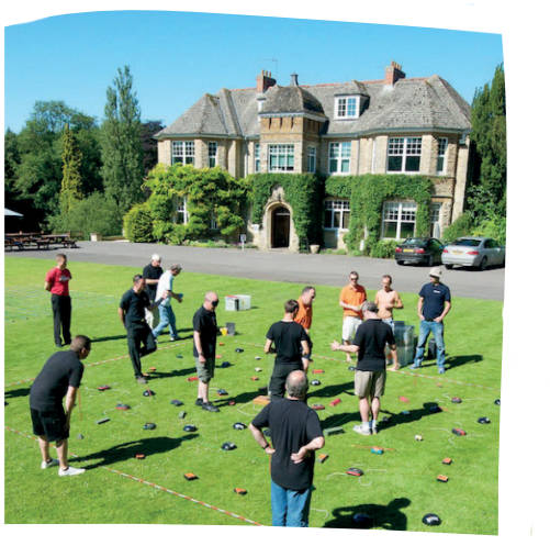 Team games for a corporate group weekend away