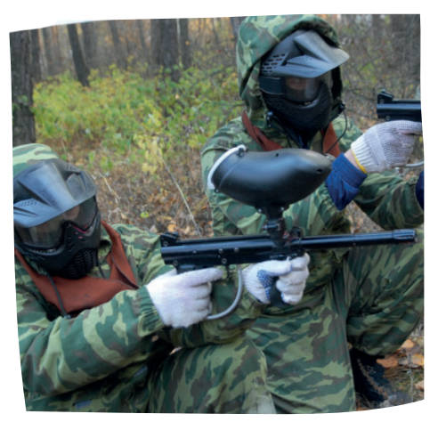 Paintball games can be organised for corporate away days through The Big House Company in Somerset
