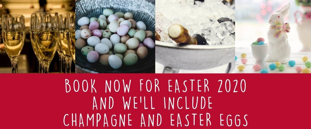 Easter bookings receive free champagne and easter eggs