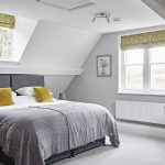 Cosy and comfortable attic bedroom for 2 guests at this luxury house rental.