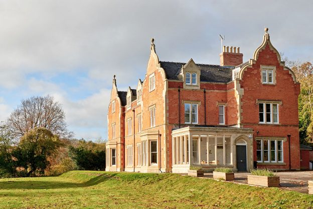 This big house stands in a large garden with splendid views over the countryside.