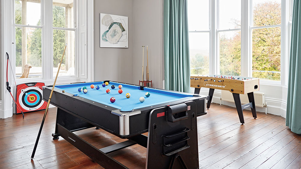 The games room provides lots of fun for your group with table football and a pool table.