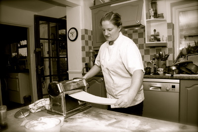Our local chefs can come to your big house and prepare a special meal for you.