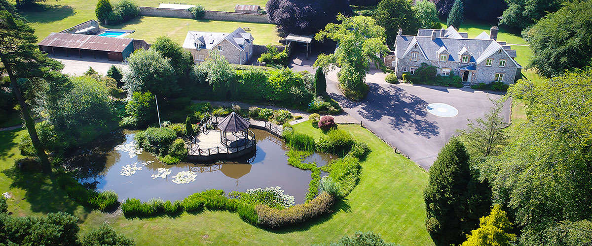 Widcombe Grange is a big house to rent in Somerset with an outdoor pool and games room.